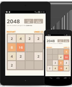 2048 ist ein Spiel, das mit mobilen Geräten kompatibel ist